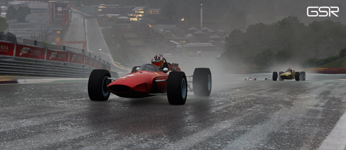 Racing drivers face torrential Spa conditions!